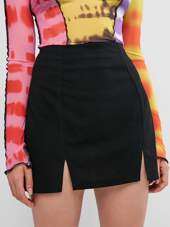 buy ZAFUL Slit Mini Skirt - BLACK S