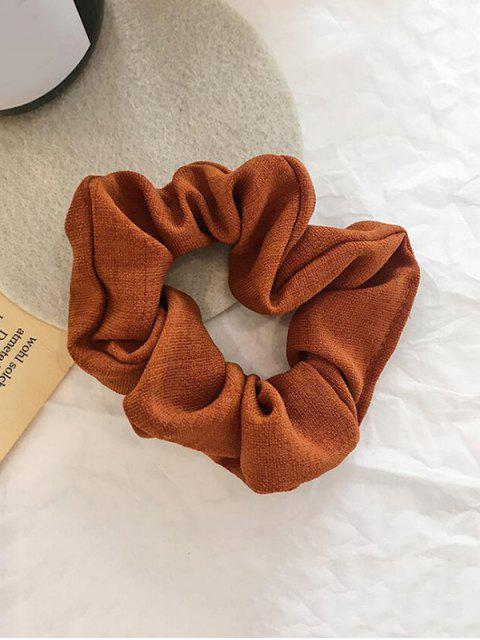 latest Plaid Pattern Vintage Fabric Scrunchy - TIGER ORANGE  Mobile