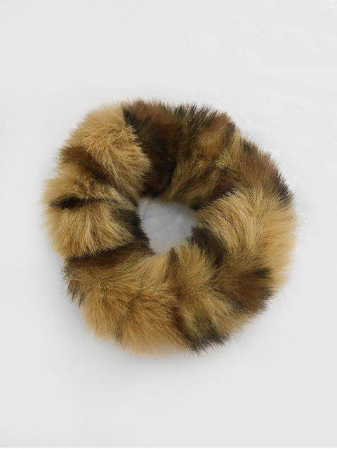 trendy Vintage Faux Fur Elastic Scrunchy - DEEP COFFEE  Mobile