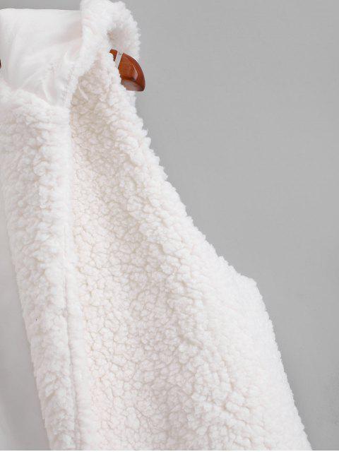 Chaleco con capucha Fuzzy - Blanco XL Mobile