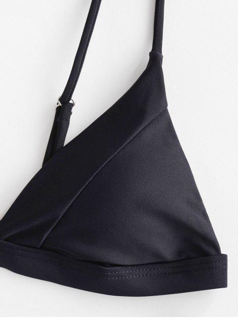 ZAFUL Maillot de Bain Bikini Fermeture en Avant à Coupe Haute - Noir M Mobile