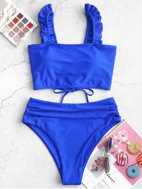 ZAFUL Volantes panza de control de Tankini del traje de baño - Azul de Arándanos M Mobile