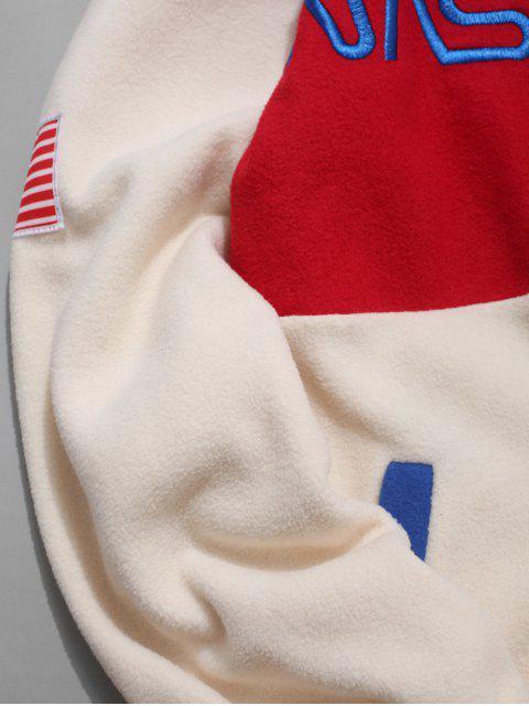 Amerikanische Flagge Buchstabe Lässige Jacke - Warmweiß M Mobile