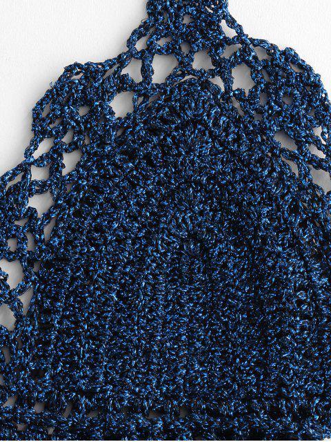 沃特嘉匯鐵鉤針比基尼泳裝 - 海藍色 M Mobile