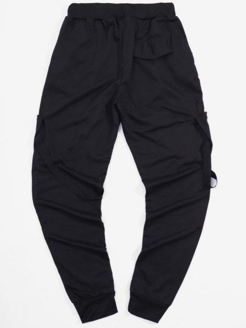 Pantalones Deportivos Elásticos con Bolsillos de Cinta - Negro M Mobile