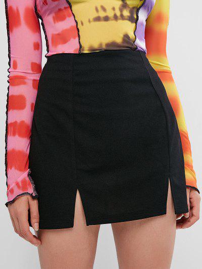 ZAFUL Mini Falda Con Abertura - Negro Xl