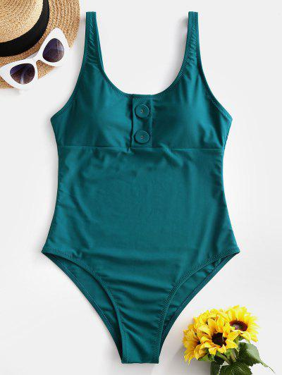 Buttoned One piece Swimsuit
