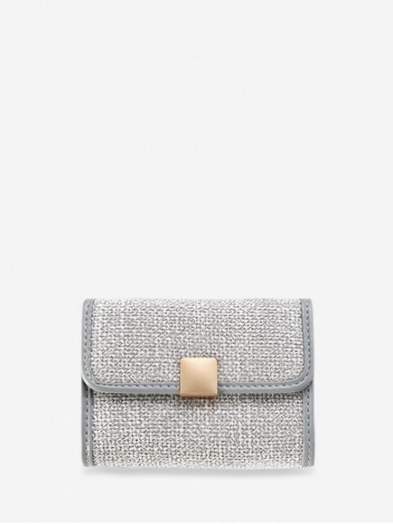 outfit Jointed Glitter Mini Square Student Card Bag - BLUE GRAY