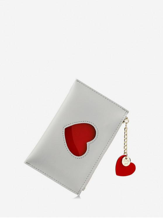 trendy Heart Pattern Pendant Card Coin Purse - GRAY GOOSE