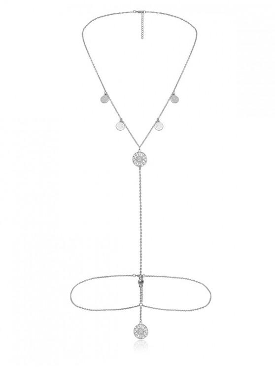 new Sexy Hollow Pendant Necklace Body Chain - SILVER