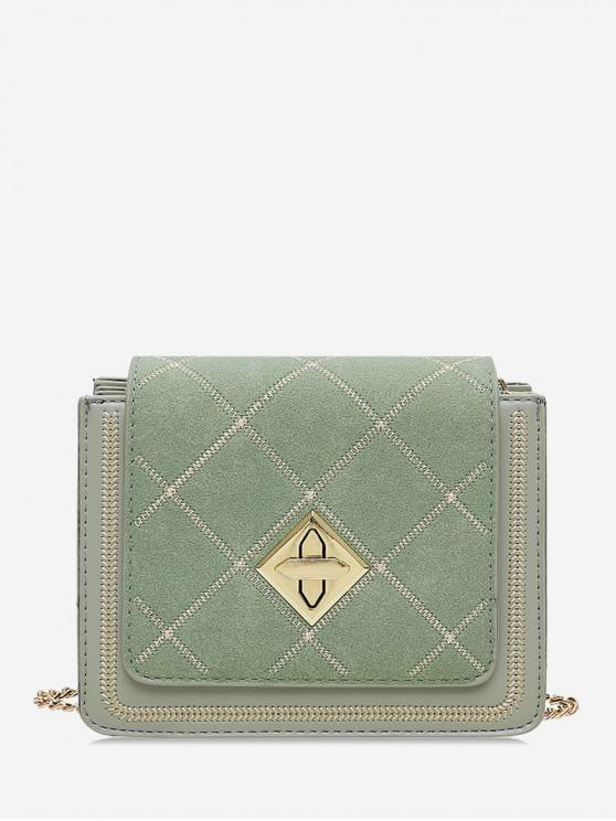 sale Chic Crossbody Grid Pattern Square Shoulder Bag - DARK SEA GREEN