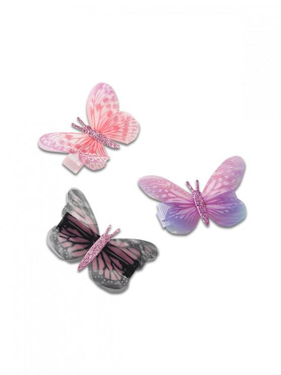 lady Stylish Butterfly Design Hairpins Set - MULTI