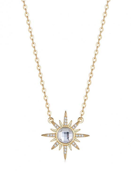ladies Zircon Simple Pendant Necklace - WHITE REGULAR