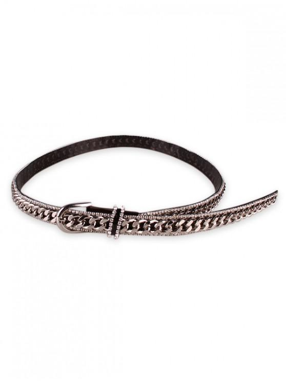 new Rhinestone Inlaid Waist Belt - BLACK