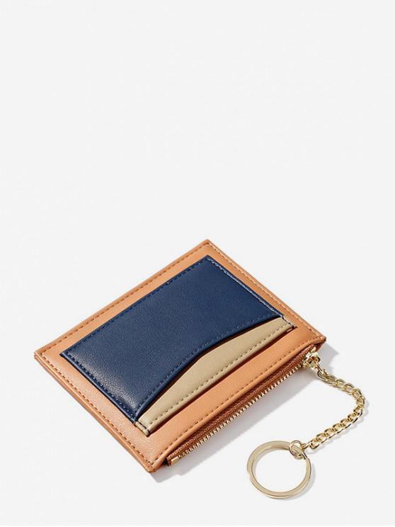 latest PU Leather Key Ring Card Bag - PAPAYA ORANGE