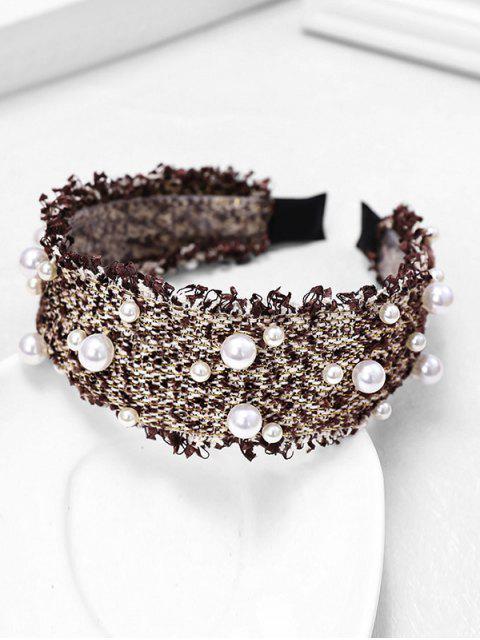 chic Chic Pearl Decorate Headband - COFFEE  Mobile