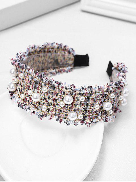 affordable Chic Pearl Decorate Headband - GRAY  Mobile