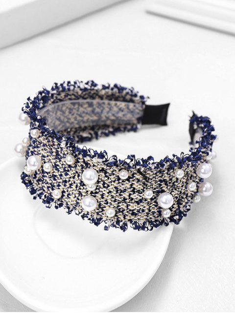 online Chic Pearl Decorate Headband - BLUE  Mobile