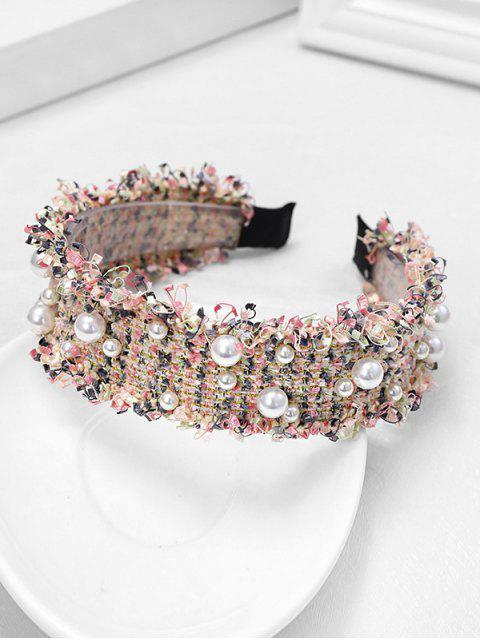 chic Chic Pearl Decorate Headband - PINK  Mobile