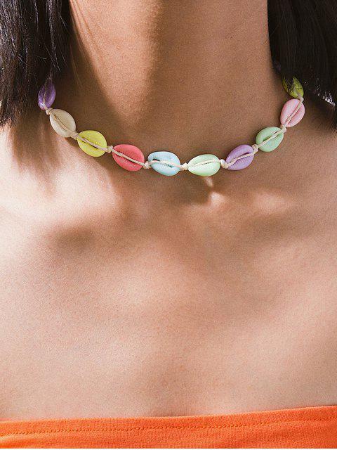 Регулируемое Ожерелье Чокер Раковина - Многоцветный-A  Mobile