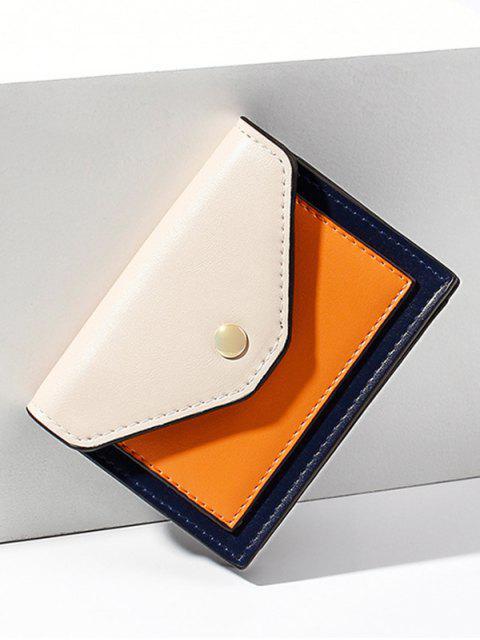 Porte-cartes en Blocs de Couleurs en PU - Blanc Chaud  Mobile