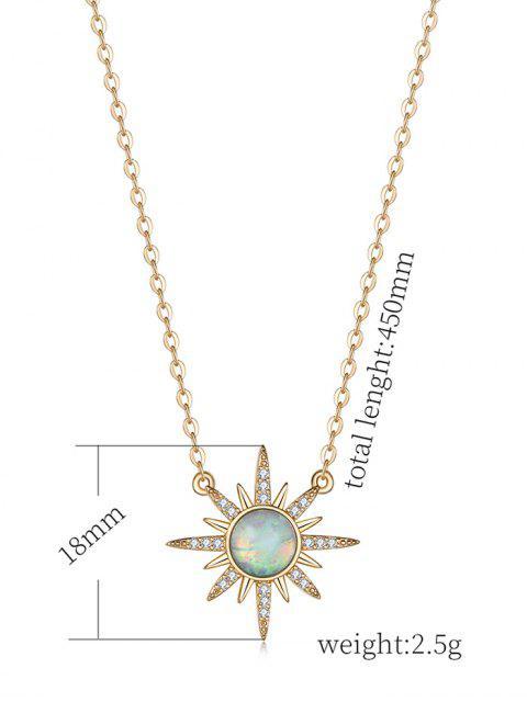 Циркон Простое Ожерелье С подвеской - Светло-бирюзовый стандартный Mobile