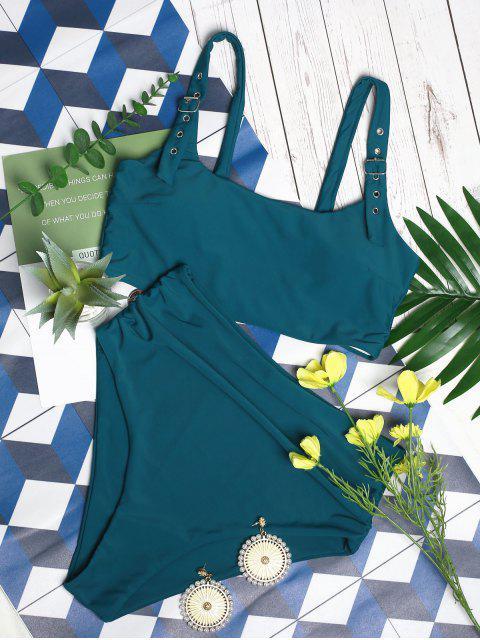 ZAFUL hebilla acolchada de Control de Abdomen Tankini del traje de baño - Azul Eléctrico M Mobile