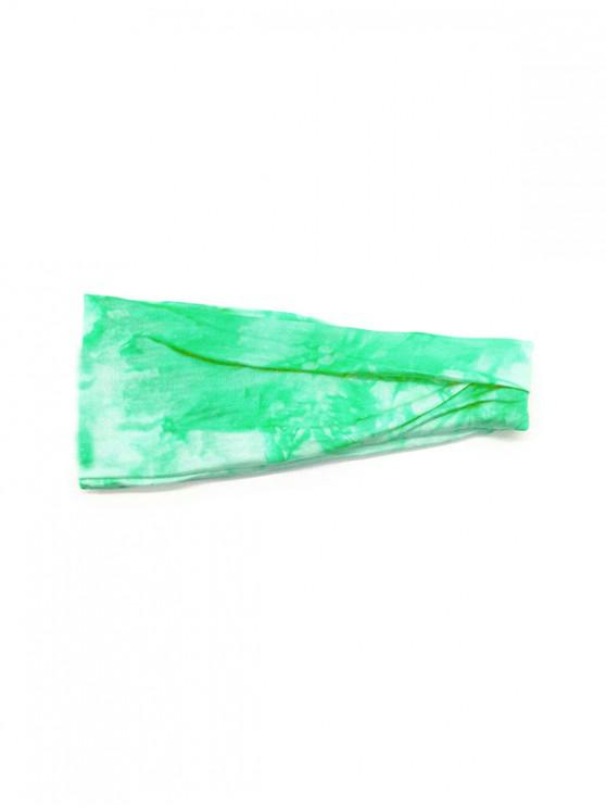 chic Tie Dyed Elastic Athletic Headband - PISTACHIO GREEN