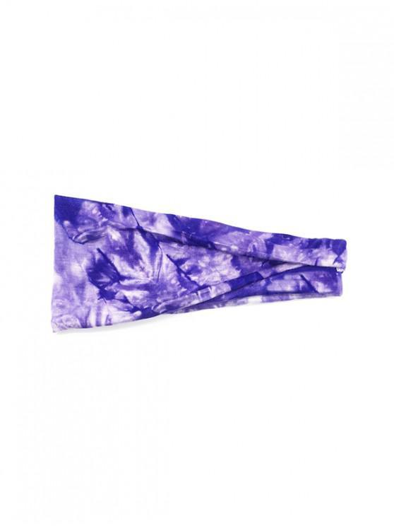 sale Tie Dyed Elastic Athletic Headband - PURPLE