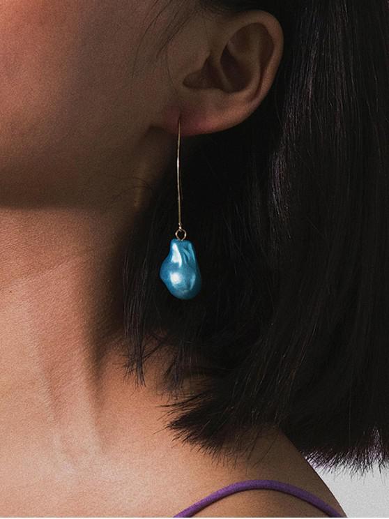 chic Baroque Faux Pearl Ear Through Earrings - BLUE