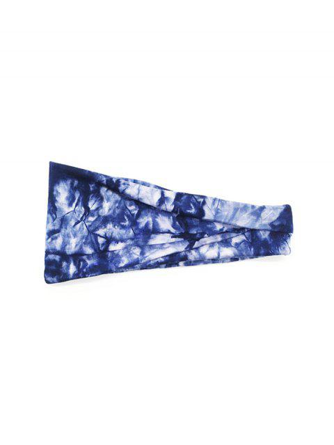 affordable Tie Dyed Elastic Athletic Headband - CADETBLUE  Mobile