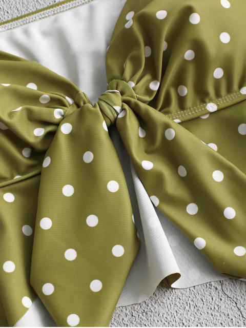 ZAFUL lunares atado Peplum Tankini del traje de baño - Multicolor-A L Mobile