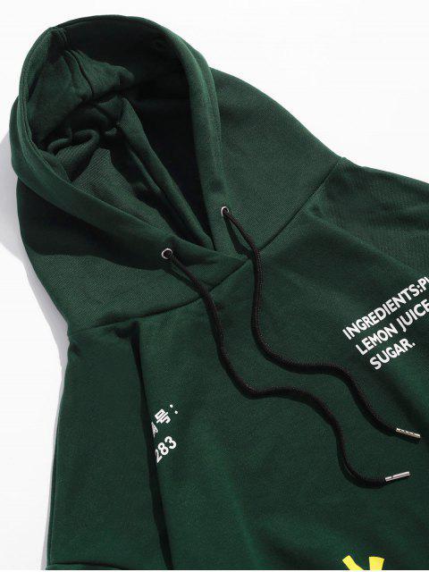Chinesische Limonade Produktion Label Graphik Hängender Schulter Hoodie - Armeegrün 3XL Mobile
