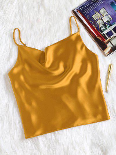 Camiseta Sin Mangas De Satén De Gran Tamaño - Amarilla De Abeja  S