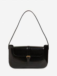 مشبك الصلبة حقيبة الكتف الرجعية - أسود