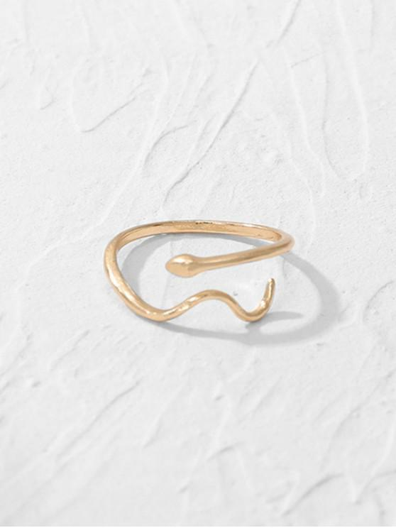affordable Brief Snake Shape Open Ring - GOLD