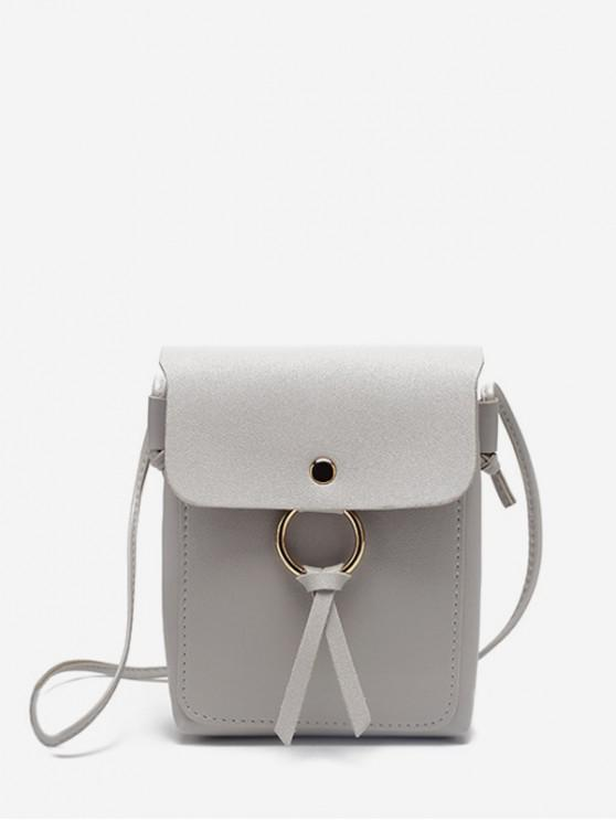 O-Ring Mini PU-Leder Umhängetasche Tasche - Graue Wolke