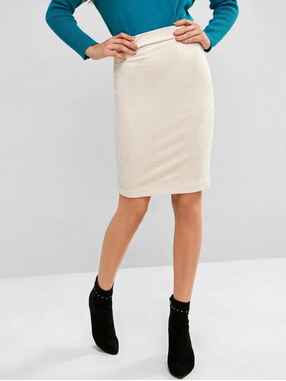 Falda tubo de gamuza - Crema de Cristal S