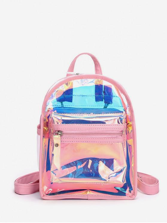 women Transparent Multi-use Street Backpack - PINK