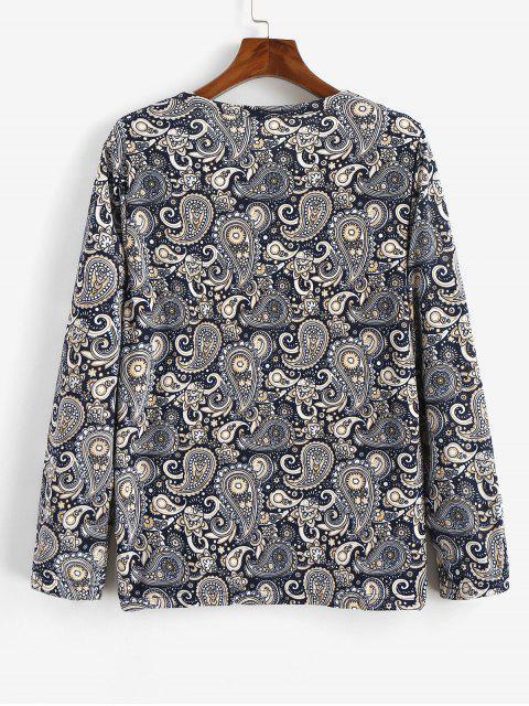 T-shirt bohème à imprimé floral et motif paisley - Multi 2XL Mobile