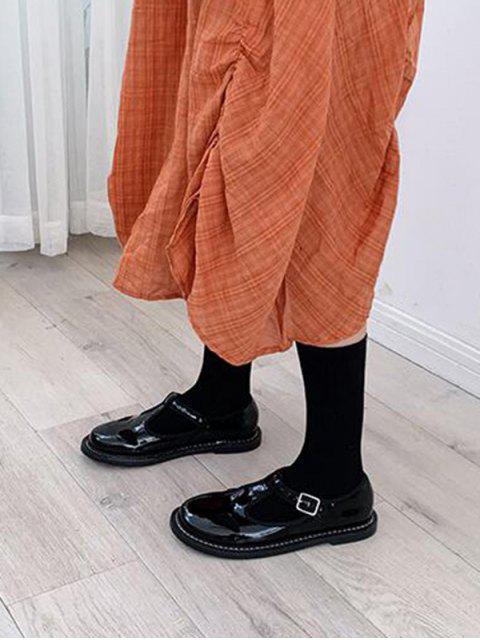 Chaussettes en Couleur Unie Design en Coton - Noir  Mobile