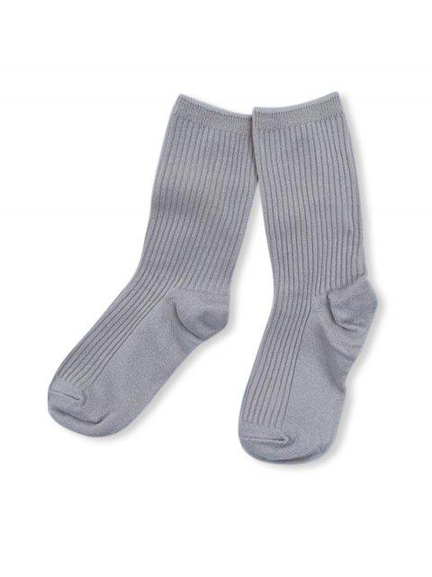fancy Solid Color Design Cotton Floor Socks - DARK GRAY  Mobile