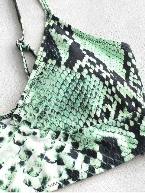 ZAFUL estampado de serpiente Corte Alto Contraste de Tankini del traje de baño - Serpiente Verde S Mobile