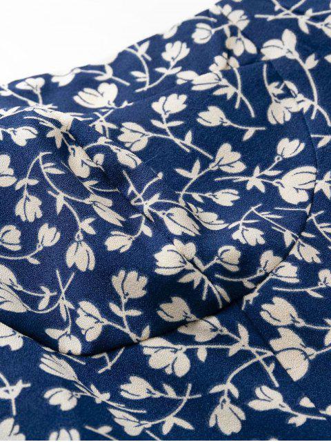 Mini Abito Mungitrice con Stampa Floreale - Profondo blu M Mobile