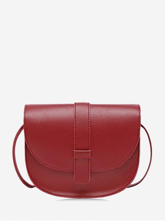 best Simple Crossbody Messenger Small Square Shoulder Bag - RED WINE