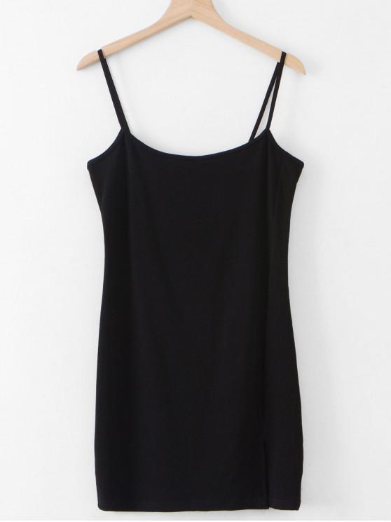 shops Slit Sheath Cami Dress - BLACK M