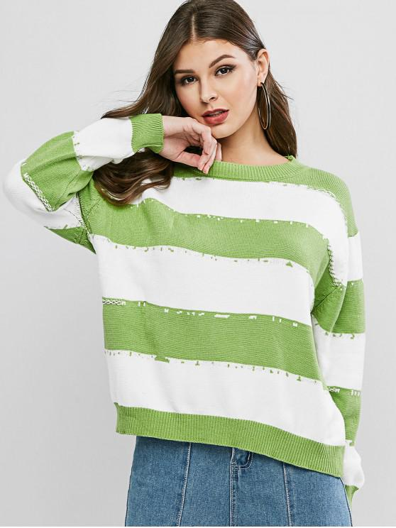 affordable Colorblock Knitwear - MULTI-A ONE SIZE