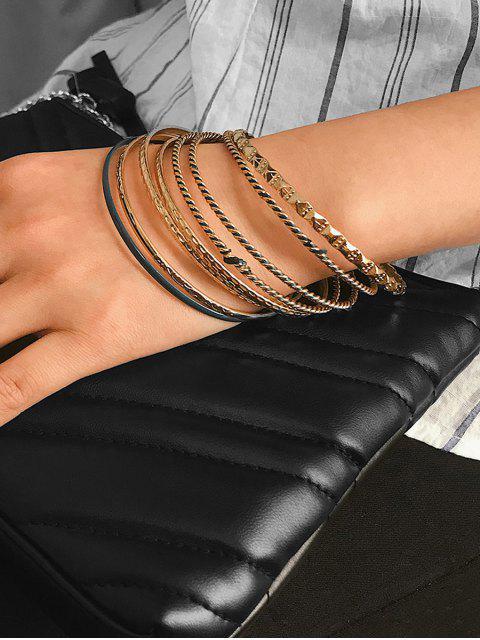 women's 8 Piece Simple Thin Bangle Set - GOLD  Mobile