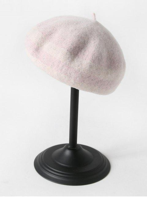 new Vintage Striped Pattern Wool Beret - PINK  Mobile