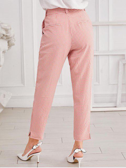 Pantalones de algodón barato mosca de la cremallera lateral de hendidura - Rosado M Mobile